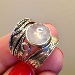 Jewelry - Moonstone Sterling Silver BOHO Ring India 975 YS